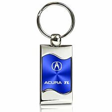 Acura TL Blue Spun Brushed Metal Key Chain