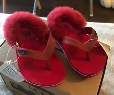 Ugg flip flop uk4 infant red holiday beach Wear sandals for baby