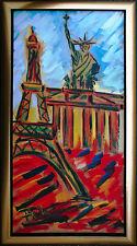 Felix Samuel Pfefferkorn *1945 Berlin Paris New York Gemälde 100x50 cm WVZVII 37
