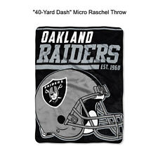 "NFL Oakland Raiders 40-Yard Dash Micro Raschel Throw Blanket 40"" x 60"""