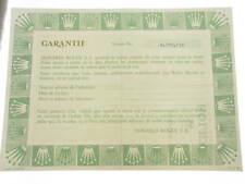 Rolex certificate serial number 4.270.738 genuine garanzia certificato originale