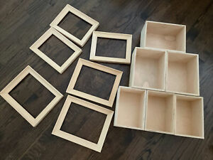 dollhouse miniatures Small  room boxes Lot, Unfinished, New