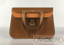 SOLD! AUTHENTIC $4600 HERMES Halzan Mini 22 Sable/Potiron Swift 4-Way Bag