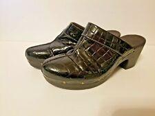 Clarks Gloss Cougar Black Patent Mule Clogs Style# 38367  Womens Sz 10 M