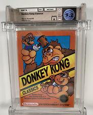 1988 NES NINTENDO DONKEY KONG CLASSICS HANGTAB SEALED REV-A 3 SCREW WATA 9.2 A
