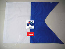 350mm x 600mm Large Scuba Diving Dive Boat Charter Alpha Flag Spearfishing AUS