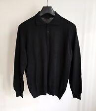 Men's TORRAS black sweater jumper top  size S 90% wool/ 10% cashmere Spain