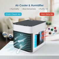 Portable Mini Air Conditioner Water Cooling Fan Artic Air Cooler Humidifier LED