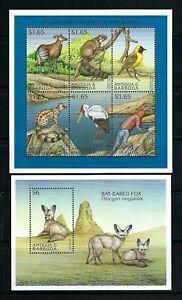 Antigua & Barbuda 1997 Sc#2059,2062  Endangered Species-Okapi/Fox  MNH $14.65