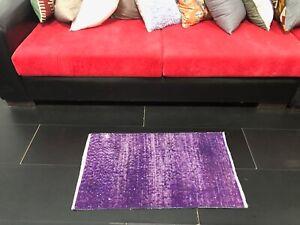 Vintage Purple Small Rug, Decorative Doormat Rug, Purple Turkish Rug, Modern Mat