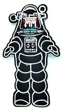 "4"" Robby Robot Forbidden Planet Die Cut Embroidered Patch Iron On Quality"