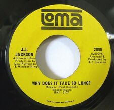 J.J.Jackson-Down But Not Out/Why Does It Take So-Rare Mod Soul 45-Loma-VG++HEAR