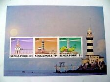 SINGAPORE MINIATURE SHEET M/S STAMP - 7TH AUGUST 1982 LIGHTHOUSE