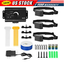 Electric Dog Pet Fence System Waterproof Shock Collars For 1-2-3 Dogs US stock