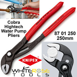 Knipex Cobra Hightech Water Pump Pliers Grips Push Button 250mm 87 01 250