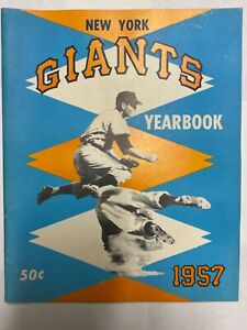 1957 New York Giants Yearbook Willie Mays