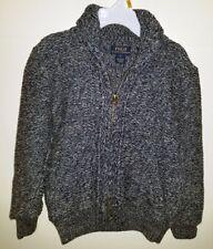 Polo Ralph Lauren Boys Cotton Cardigan Sweater, Color Blue, Size 5