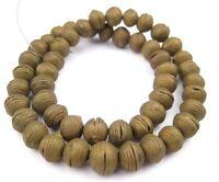 Vintage Naga Shell Shard Beads 23mm Nepal Brown Unusual 20 Inch Strand