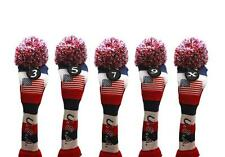 3 5 7 9 X USA GOLF Driver Headcover Red White Blue KNIT Head Covers Headcovers