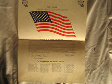 "1959 ""Pledge of Allegiance"" Poster Distributed by the US Navy! + 50 States List!"