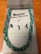 """ENERGY NECKLACE BY BOOST GREEN AND GRAY 18"""" POWER OF TITANIUM"""