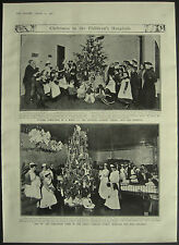 Christmas Great Ormond Street London Throat Hospital 1908 1 Page Photo Article