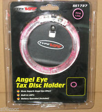 Type VR Pink Plastic LED Tax Disc Holder Glows Pink with LED light when on