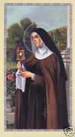 Novena to Saint Clare Prayer Card - Patron of the Poor