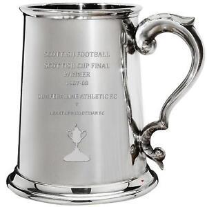 DUNFERMLINE ATHLETIC FC 1967 1968 Scottish Cup Final Winner 1pt Pewter Tankard
