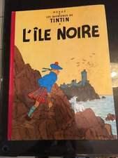 Tintin L'ile Noire B22bis 1957 super Zustand!!!