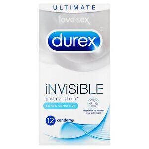 Durex Invisible Extra Thin Extra Sensitive Condoms X 3 6 12 24 36 48