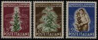 Repubblica - 1950 - Tabacco - Sassone n.629/631 - Serie completa nuova - MNH