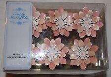 Rachel Ashwell Simply Shabby Chic Vtg Pink Flower Metal Shower Curtain Hooks~NIP