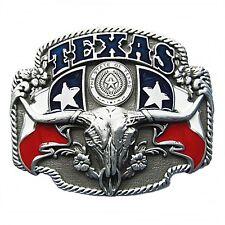 Gürtelschnalle Buckle Gürtelschließe für Wechselgürtel Longhorn Texas Lone Star
