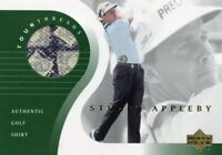 STUART APPLEBY 2001 Upper Deck Tour Threads Golf Shirt Multi Color Relic PGA