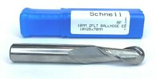 Schnell German Precision 2 Flute Solid Carbide Ball Nose End Mill