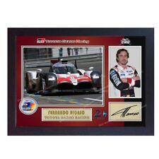 Nuevo Fernando Alonso le Mans 24 impresión Firmado Foto Poster autógrafo enmarcado