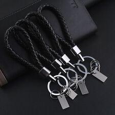 1pc Fashion Men Women Leather Key Chain Ring Keyfob Car Keyring Keychain Gift