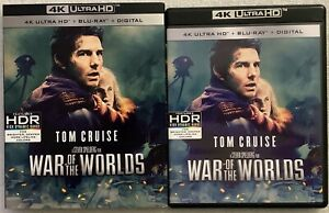WAR OF THE WORLDS 4K ULTRA HD BLU RAY 2 DISC SET + SLIPCOVER SLEEVE SOLD OUT BUY