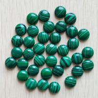 50pcs 8mm Malachite Stone Round CAB CABOCHON Stones Beads for Jewelry Making