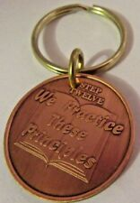 Step 12  Keychain Alcoholics Anonymous AA Medallion Key Chain Coin Token Chip