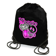Personalized Cheerleading Megaphone Peace & Patterned Heart Drawstring Backpack