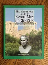 THE GREENLEAF GUIDE TO FAMOUS MEN OF GREECE by Cyndy Shearer, 10th Printing 2000