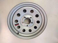 Silver Mod Trailer Wheel Rim 15 x 5 lug x 4.5 Modular
