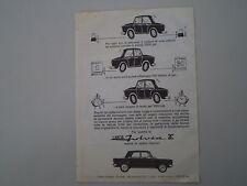 advertising Pubblicità 1965 LANCIA FULVIA 2C