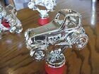Vintage Antique LEGENDS Jalopy Racer Trophy Figurine Dirt Track Set of three