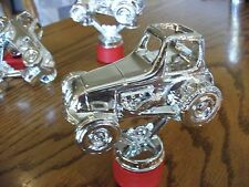 Vintage Antique LEGENDS Jalopy Racer Trophy Figurine  Dirt Track Set of three