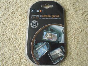 "Zeikos Universal LCD Screen Guard Fits 1.5""-5.0"" LCD Screen NEW"