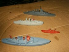 (3) Tootsietoy Warships Made in USA & One Lead Warship, No Reserve.