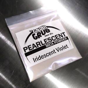 NEW 1 OZ. Bi-Color IRIDESCENT VIOLET Pearly Mica Powder Fishing Plastisol